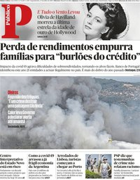 capa Público de 27 julho 2020