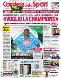 capa Corriere dello Sport de 1 agosto 2020