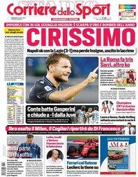 capa Corriere dello Sport de 2 agosto 2020