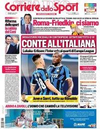capa Corriere dello Sport de 6 agosto 2020