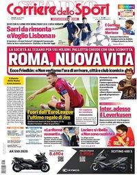 capa Corriere dello Sport de 7 agosto 2020