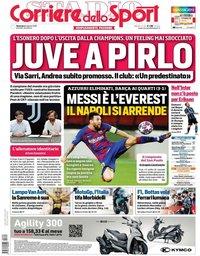 capa Corriere dello Sport de 9 agosto 2020