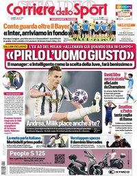 capa Corriere dello Sport de 10 agosto 2020