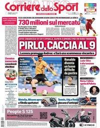 capa Corriere dello Sport de 14 agosto 2020