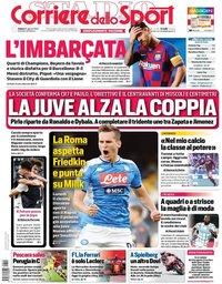 capa Corriere dello Sport de 15 agosto 2020
