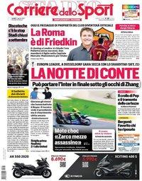 capa Corriere dello Sport de 17 agosto 2020