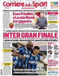 capa Corriere dello Sport de 18 agosto 2020