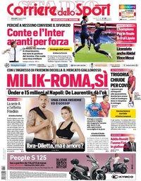capa Corriere dello Sport de 19 agosto 2020