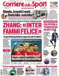 capa Corriere dello Sport de 20 agosto 2020