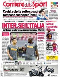 capa Corriere dello Sport de 21 agosto 2020