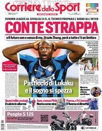 capa Corriere dello Sport de 22 agosto 2020
