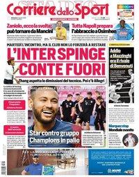 capa Corriere dello Sport de 23 agosto 2020