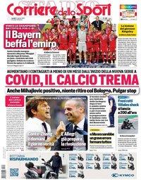 capa Corriere dello Sport de 24 agosto 2020