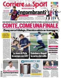 capa Corriere dello Sport de 25 agosto 2020
