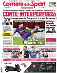 capa Corriere dello Sport de 26 agosto 2020