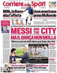 capa Corriere dello Sport de 27 agosto 2020