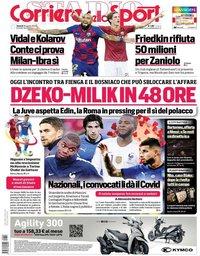 capa Corriere dello Sport de 28 agosto 2020