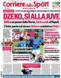 capa Corriere dello Sport de 29 agosto 2020