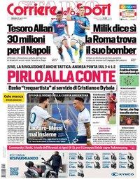 capa Corriere dello Sport de 30 agosto 2020