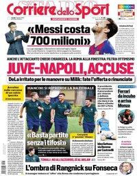 capa Corriere dello Sport de 31 agosto 2020