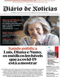 capa Diário de Notícias de 1 agosto 2020