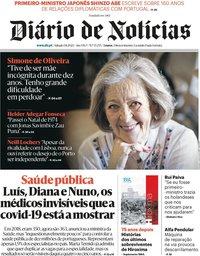 capa Diário de Notícias de 2 agosto 2020