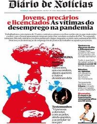 capa Diário de Notícias de 6 agosto 2020