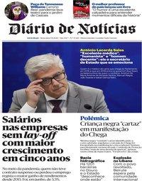 capa Diário de Notícias de 7 agosto 2020