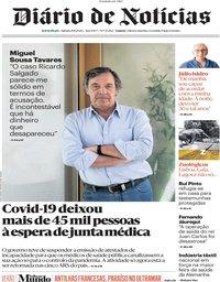 capa Diário de Notícias de 8 agosto 2020