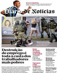 capa Diário de Notícias de 13 agosto 2020