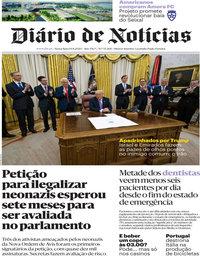 capa Diário de Notícias de 14 agosto 2020