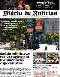 capa Diário de Notícias de 17 agosto 2020
