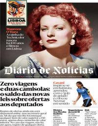 capa Diário de Notícias de 18 agosto 2020