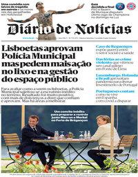 capa Diário de Notícias de 20 agosto 2020