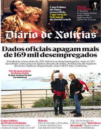 capa Diário de Notícias de 21 agosto 2020