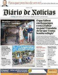 capa Diário de Notícias de 22 agosto 2020
