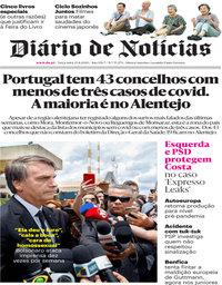 capa Diário de Notícias de 25 agosto 2020
