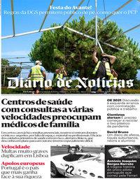 capa Diário de Notícias de 26 agosto 2020