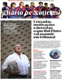 capa Diário de Notícias de 27 agosto 2020