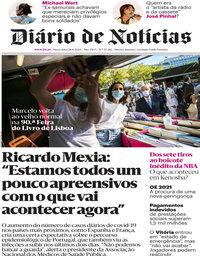 capa Diário de Notícias de 28 agosto 2020