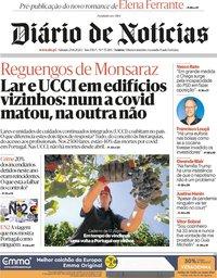 capa Diário de Notícias de 29 agosto 2020