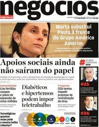 capa Jornal de Negócios de 12 agosto 2020