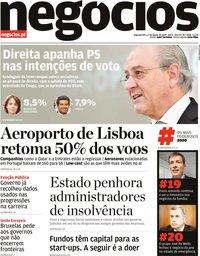capa Jornal de Negócios de 17 agosto 2020