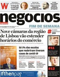 capa Jornal de Negócios de 21 agosto 2020