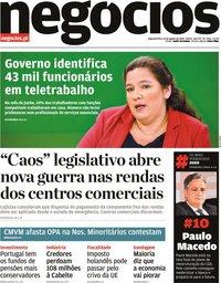 capa Jornal de Negócios de 24 agosto 2020