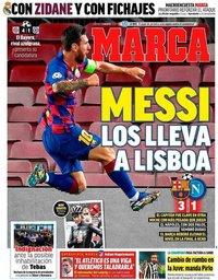 capa Jornal Marca de 9 agosto 2020