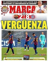 capa Jornal Marca de 15 agosto 2020