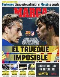 capa Jornal Marca de 28 agosto 2020