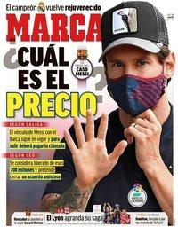 capa Jornal Marca de 31 agosto 2020