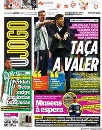 capa Jornal O Jogo de 1 agosto 2020